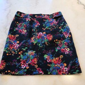 Laundry black cotton floral hi waisted skirt. 6